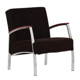 Кресло INCANTO (Инканто) chrome с деревянными накладками