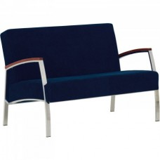 Кресло INCANTO (Инканто) Duo chrome двухместный с деревянными накладками
