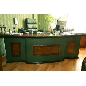 Стол руководителя Антарес (Antares) зеленый, 2400х950х760
