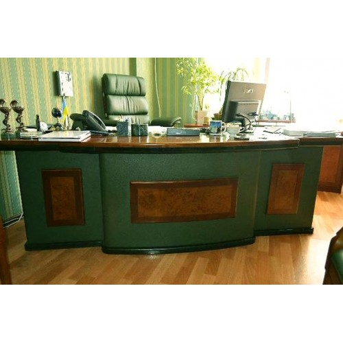 Купить Стол руководителя Антарес (Antares) зеленый, 2400х950х760