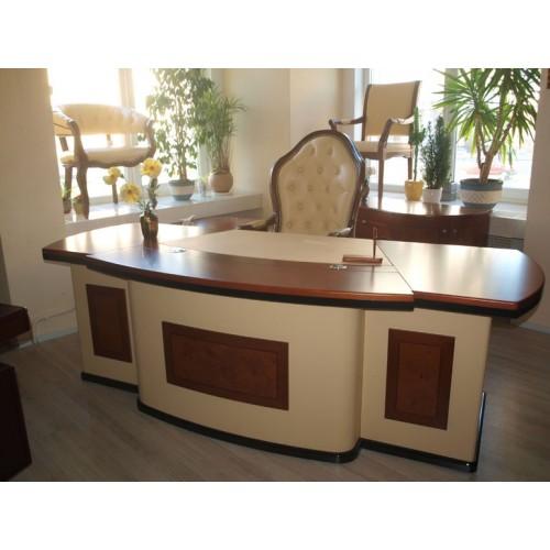 Купить Стол руководителя Антарес (Antares) бежевый, 2400х950х760
