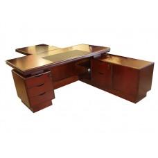 Стол руководителя Мукс (Muks) палисандр YDK611, 1800х900 (1850)х760