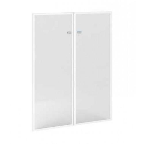 Купить Дверь Премьер стеклянная в алюминиевом профиле правая П814, 457x20x1208