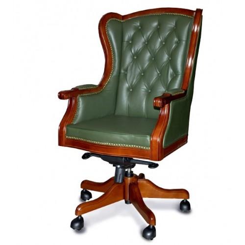 Купить Кресло руководителя Брайтон кожа, зеленое