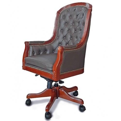 Купить Кресло руководителя Джермано кожа, коричневое