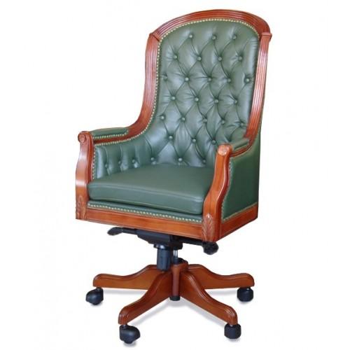 Купить Кресло руководителя Джермано кожа, зеленое