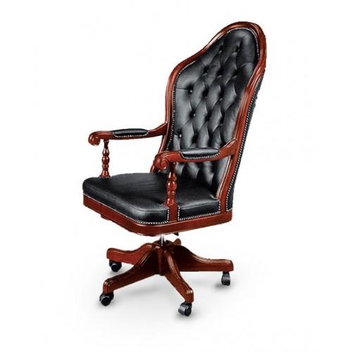 Купить Кресло руководителя Эмбасси кожа, черное