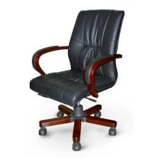 Кресло конференционное Корсика низкое кожа