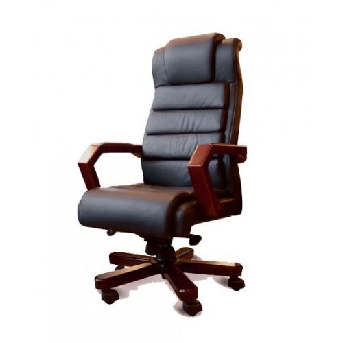 Купить Кресло руководителя Леонардо кожа, черное