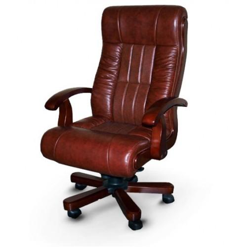 Купить Кресло руководителя Мурано кожа, коричневое