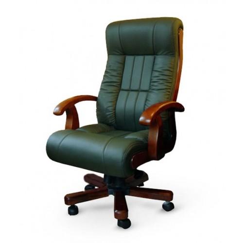 Купить Кресло руководителя Мурано кожа, зеленое
