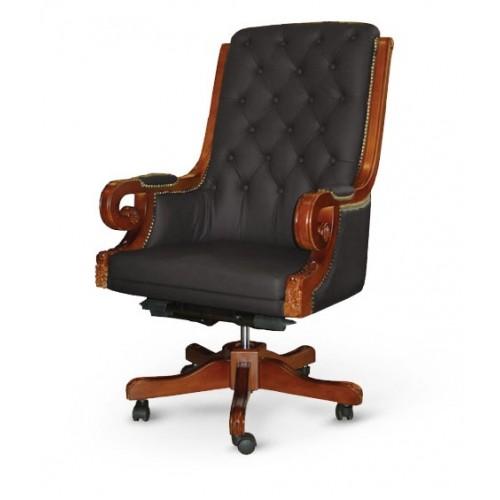 Купить Кресло руководителя Роял кожа, черное