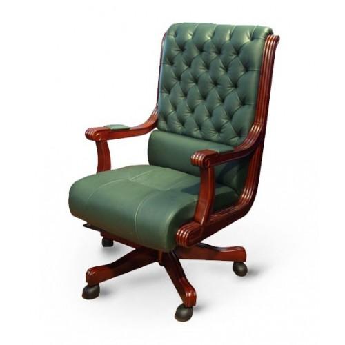 Купить Кресло руководителя Сорренто кожа, зеленое