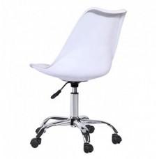 Кресло офисное Астер с мягкой подушкой белое