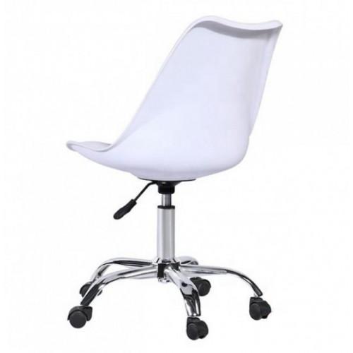 Купить Кресло Астер офисное с мягкой подушкой, белое