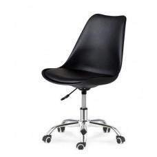 Кресло офисное Астер с мягкой подушкой черное