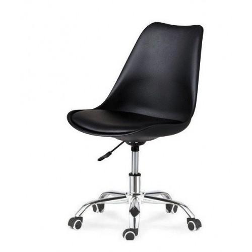 Купить Кресло Астер офисное с мягкой подушкой, черное