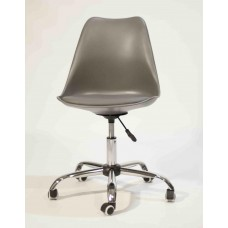 Кресло офисное Астер с мягкой подушкой серое