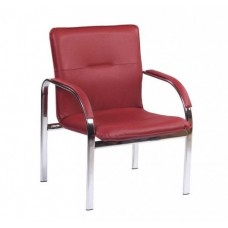 Кресло STAFF-1 chrome S одноместное c мягкими подлокотниками