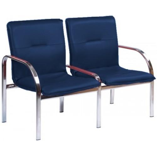 Купить Кресло STAFF-2 chrome двухместное