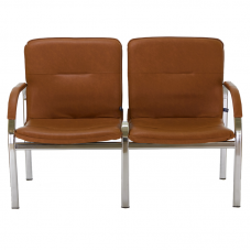 Кресло STAFF-2 chrome S двухместное с мягкими подлокотниками
