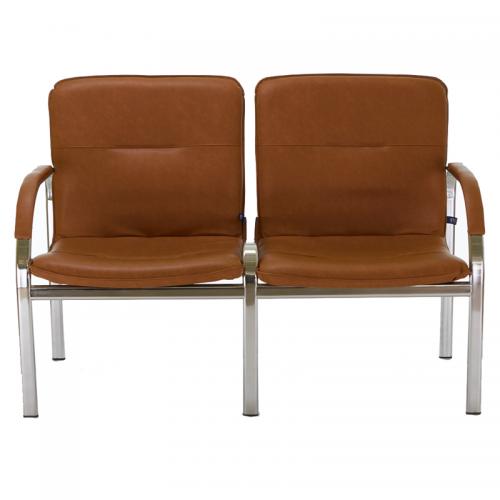 Купить Кресло STAFF-2 chrome S двухместное с мягкими подлокотниками