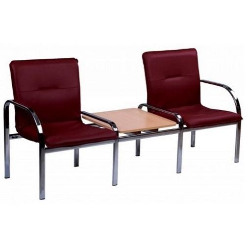 Купить Кресло STAFF-2 T chrome двухместное со столиком