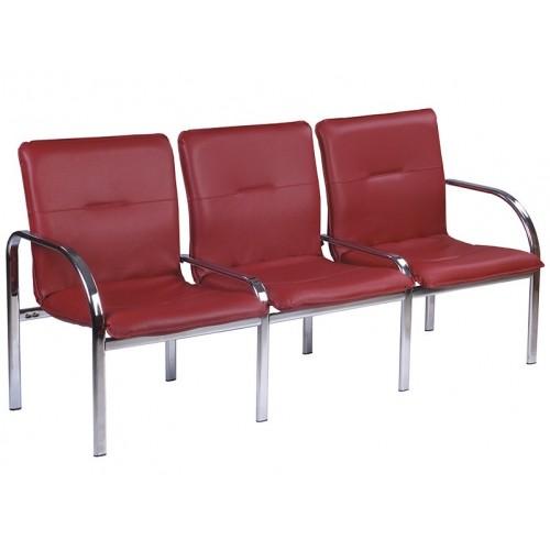 Купить Кресло STAFF-3 chrome трехместное