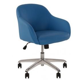 Кресло WAIT GTP с хромированной металлической базой