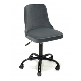 Кресло офисное ADAM (Адам) черная база, серый бархат