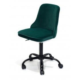Кресло офисное ADAM (Адам) черная база, зеленый бархат