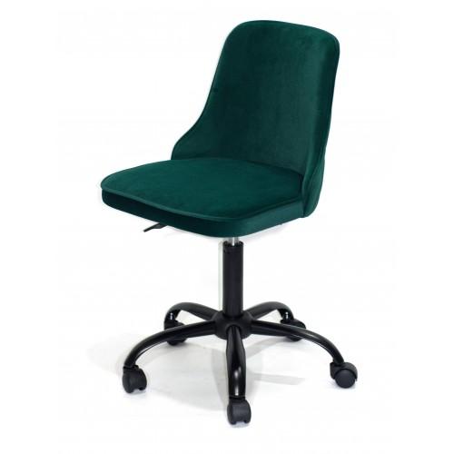 Купить Кресло офисное ADAM (Адам) черная база, зеленый бархат