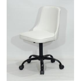 Кресло офисное ADAM (Адам) черная база, белый кожзам