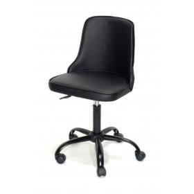 Кресло офисное ADAM (Адам) черная база, черный кожзам