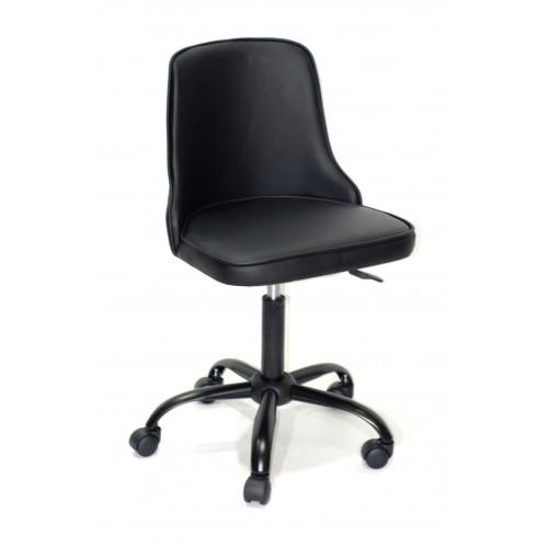 Купить Кресло офисное ADAM (Адам) черная база, черный кожзам