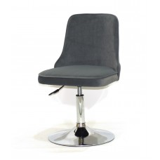 Кресло Adam (Адам) серый бархат на блине