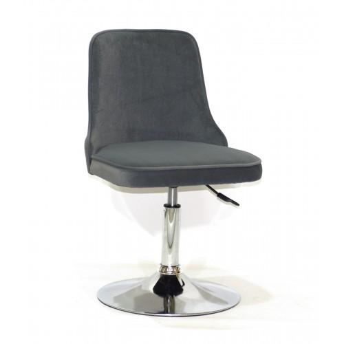 Купить Кресло Adam (Адам) серый бархат на блине