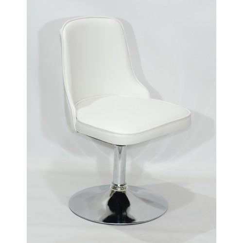 Купить Кресло Adam (Адам) белый кожзам на блине
