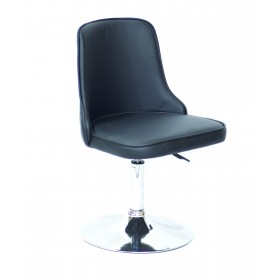 Кресло Adam (Адам) черный кожзам на блине