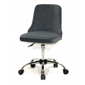 Кресло офисное ADAM (Адам) хромированная база, серый бархат