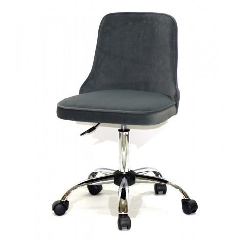 Купить Кресло офисное ADAM (Адам) хромированная база, серый бархат