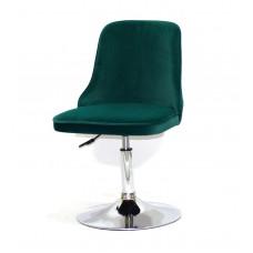 Кресло Adam (Адам) зеленая бархат на блине