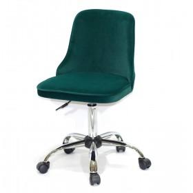 Кресло офисное ADAM (Адам) хромированная база, зеленый бархат