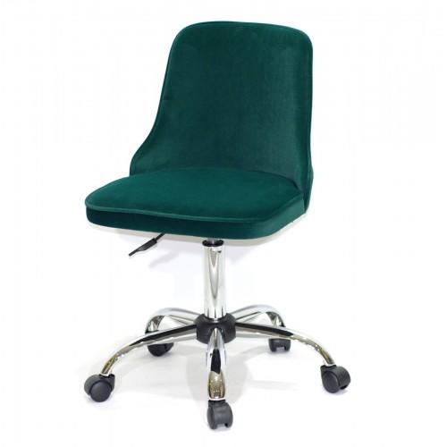 Купить Кресло офисное ADAM (Адам) хромированная база, зеленый бархат