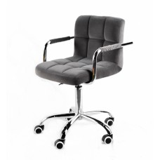 Кресло офисное ARNO ARM (АРНО АРМ) CH Office бархат, серый (В-1004)