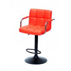 Кресло барное ARNO ARM (АРНО АРМ) экокожа, красный (1007)