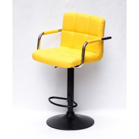 Кресло барное ARNO ARM (АРНО АРМ) экокожа, желтый (1006)