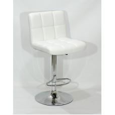 Кресло барное ARNO (Арно) хромированная база, белый кожзам
