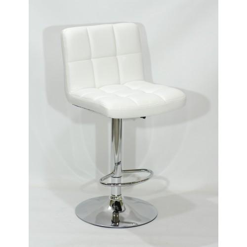 Купить Кресло барное ARNO (Арно) хромированная база, белый кожзам