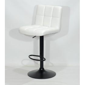 Кресло барное ARNO (Арно) черная база, белый кожзам